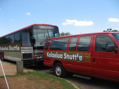 Two donated buses and two 15-passenger vans will serve as shuttles from Kalaeloa transitional centers to a transit hub and through Kalaeloa. Photo via Hawaii Community Development Authority.