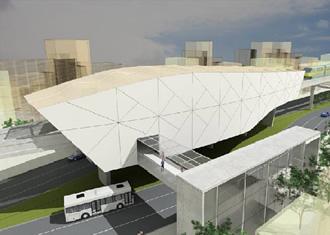 Artistic conceptualization of the monorail planned in Manaus, Brazil's urban gateway to the Amazon. Image via portaldatransparencia.gov.br.