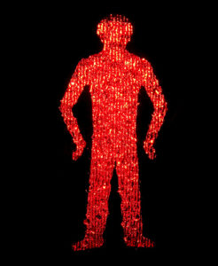 The red man is shown in a standing position to reduce confusion for color-blind people. Image via Dominic's pics.