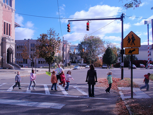 Programs like Safe Routes to School create a constituency for better infrastructure for all. Photo by Transportation for America.