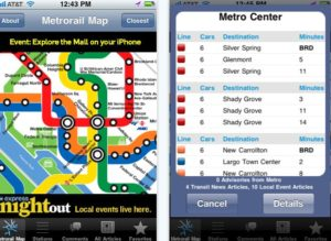 The new DC Rider app for iPhone lets riders check the latest news from Metro. Image via iTunes.