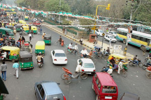 "Dangerous Delhi drivers are now under the watchful eye of Facebook's ""digital informants."" Photo by Mani Babbar."