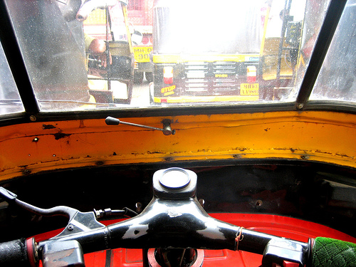 The safety of auto-rickshaws should also be assessed outside of the vehicle, from the perspective of other road users, like pedestrians and cyclists. Photo by || Anavrin ||
