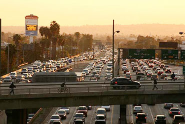 Los Angeles Mayor Antonio Villaraigosa is fighting hard for federal loans, grants, and bonds to build 12 transit projects  in 10 years; without the federal support, the projects will take 30 years to complete. Image via MoveLA.org.