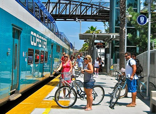 Access to sustainable transportation - from bicycles to trains - means healthier communities. Photo by Christa . Bike by the Sea.