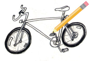 GOOD is looking for the best drawing of your day spent only using a bicycle. Original image by Andrew Neher