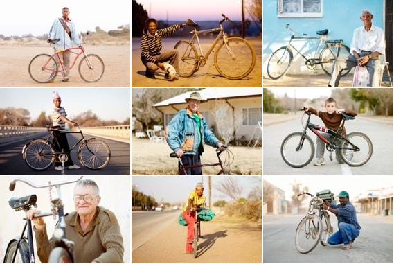 Images from Stan Engelbrecht's and Nic Grobler's project, Bicycle Portraits. Photo courtesy of Stan Engelbrecht and Nic Grobler.