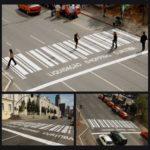 Crosswalks in Curitiba, Brasil. Photo from Ads Of the World.