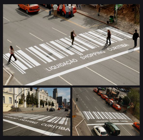 Crosswalks in Curitiba, Brasil. Photo from Ads Of the World.