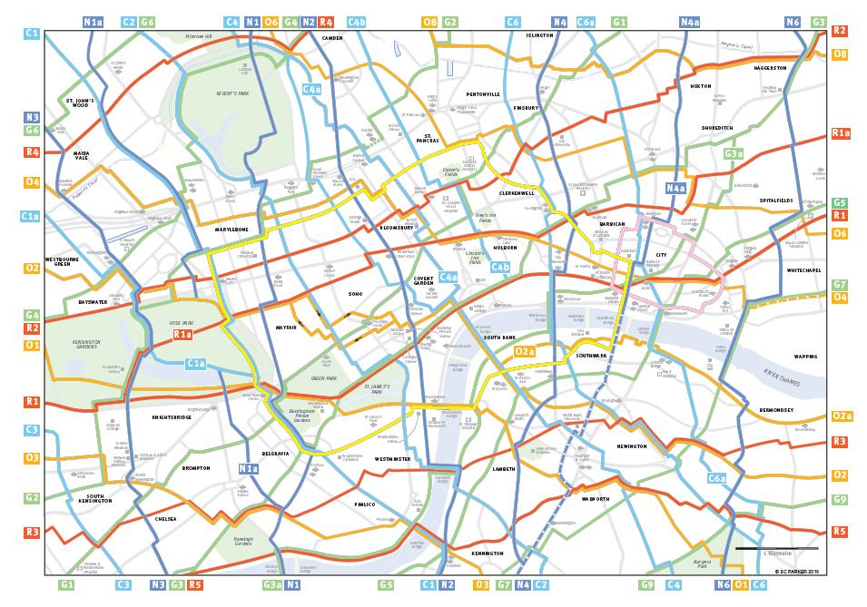 Cycle map created by Simon Parker. Image via Cycle Lifestyle magazine.
