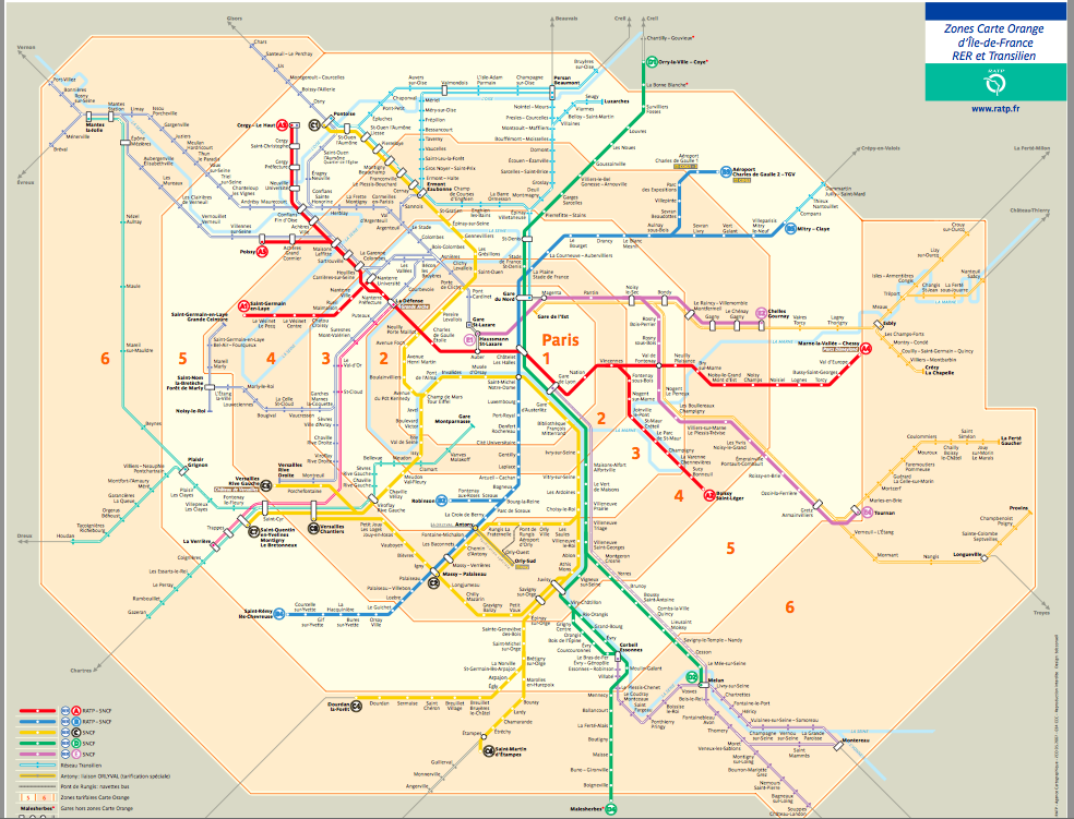 an image of paris transit map