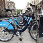 It's time we start considering bike sharing programs, like London's Barclays Cycle Hire, as part of a city's public transit mix. Photo by duncan c.