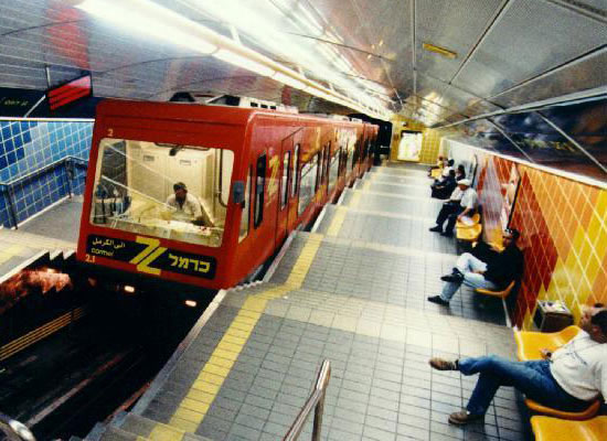 The Haifa subway. Image via Designboom.com