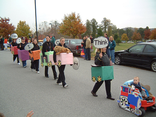 Think you can come up with a better sustainable transport costume this Halloween? Photo by Chuck.