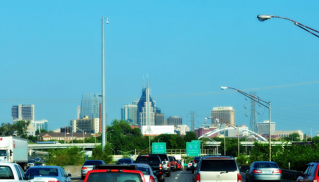 A new report from CEOs for Cities ranks Nashville, Tenn. as having the longest peak travel times, largely because of urban sprawl. Photo by debcll.
