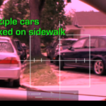 A screenshot of the scene of the crime from the A&E television show, Parking Wars. Taken from episode 59, part 1.