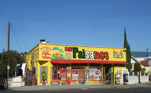 Bright signage in the Pico Union neighborhood of Los Angeles. Photo by Waltarrrr.