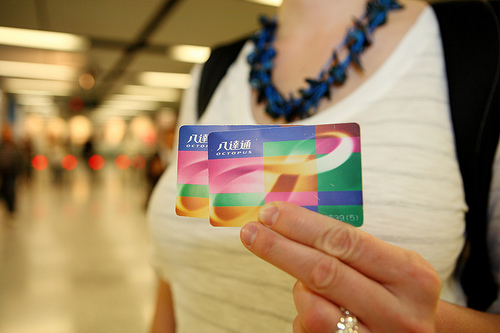 India may adopt a contactless fare card, like the Octopus card in Hong Kong, to pay for transit trips. Photo by Pawel Loj.