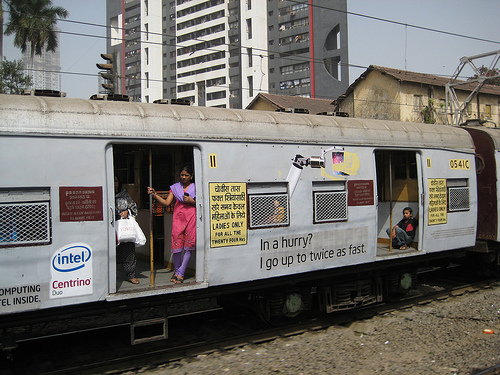 The women's only trains have been in Mumbai for about ten years. Photo by Madhav Pai.