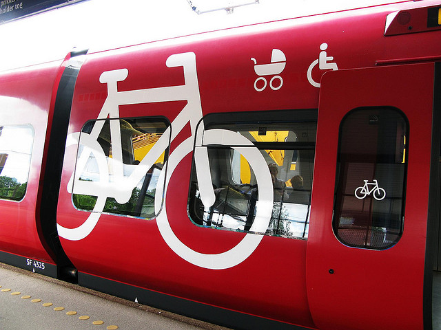 A car on Copenhagen's railway system specifically for bikes and other users. Photo by Copenhagenize.com