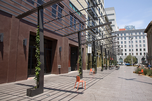 San Francisco's Mint Plaza, winner of the EPA's 2010 best civic place award as part of its Smart Growth National Award. Photo by Scott Beale.