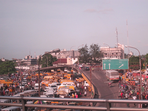 Traffic in Lagos, Nigeria. Photo by Nick M.