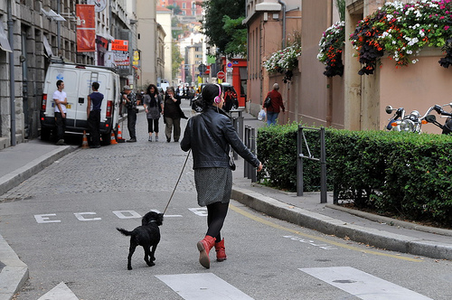 The streets of Lyon are not dominated by the car but incorporate multi-modal use. Photo by FaceMEPLS.