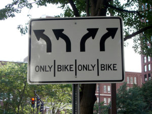 Streets open only to bikes are growing in number in America's cities. Will the trend continue? Photo by Frank Hebbert.