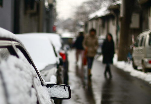 This winter, Beijing levies a small car tax. Photo by Jake Ji.