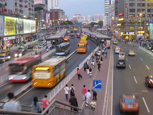 Guangzhou BRT's Gangding Station. Photo by Benjamin.