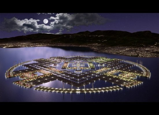 "The ""Harvest City,"" a vision for post-earthquake Haiti. Photo via Huffington Post."