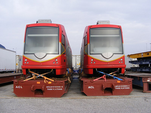 The District Department of Transportation unveiled its planned streetcar models for H Street. Photo by DDOTDC.
