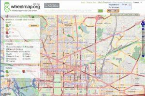 Screenshot from the website wheelmap.org