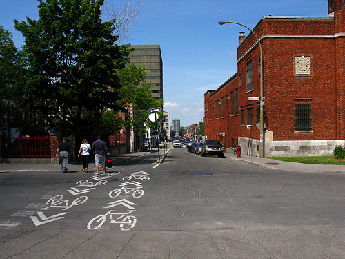 Montreal's cycling lanes Photo by Andrew Bossi.