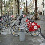Sevilla's internaional bike conference, Velo-City Sevilla, brought together international bike advocates this week and celebrated Sevilla's bike-friendly city, which features bike-sharing stations, as pictured above. Photo by Giulia Gasparro.