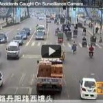 A compilation of video surveillance footage of traffic crashes went viral in China. Image via chinaSMACK.