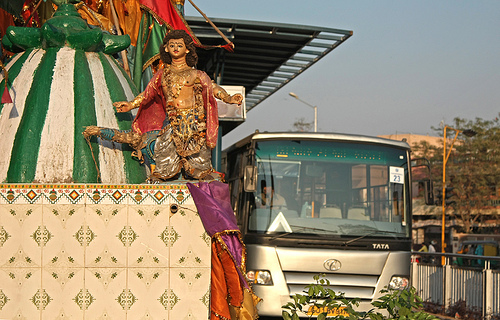 Ahmedabad's Janmarg bus rapid transit system is an example of sustainable urban mobility. Photo by Meena Kadri