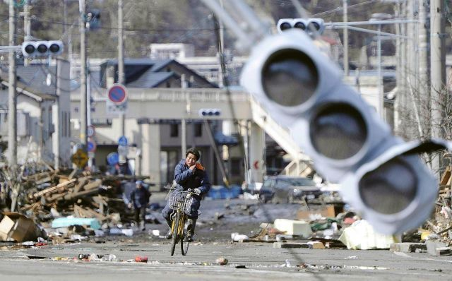 A bicycle serves as a convenient, affordable and reliable method of transportation amidst Japan's natural disasters. Photo by Associated Press