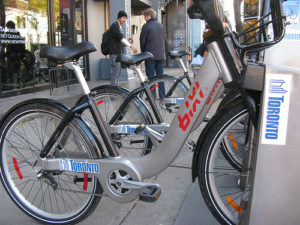 The City of Toronto is set to launch a bike-sharing program as an extension of its public transit system. Photo by wyliepoon.