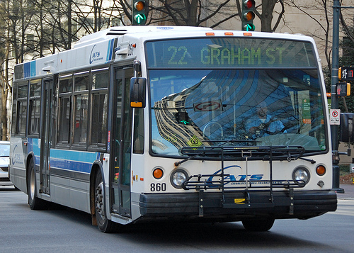 Although blank now, Charlotte's city buses and trains will start advertising on side panels to raise revenues for the transit system. Photo by Willamor Media.
