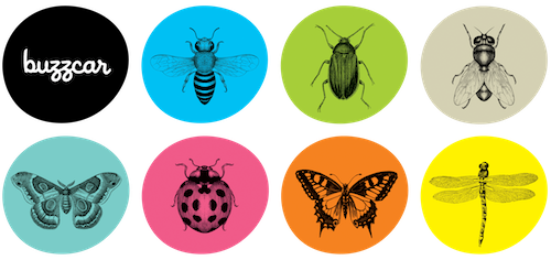 "When people register for Buzzcar, they get to choose an insect-themed avatar. The ladybug is ""charming and loved by all."""