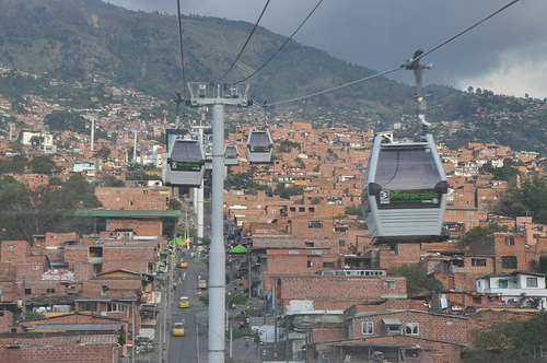 Metrocable reaches the least developed suburban areas of Medellin, Colombia.