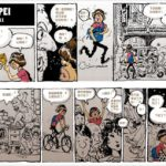 The cartoon by Taiwanese comic Push illustrates the chaos of Taipei's traffic.
