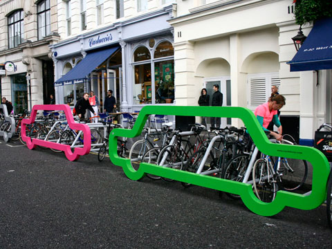 Car Shaped Bike Rack
