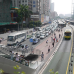 The Guangzhou BRT runs along one of the busiest corridors in the city and carries 800,000 passengers each day. Photo via ITDP.