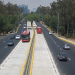 Mexico City's Plan Verde (Green Plan), which includes fuel efficient buses, has put the city on course to meet its greenhouse gas emission targets. the city  Photo by Abbaner Casmill.