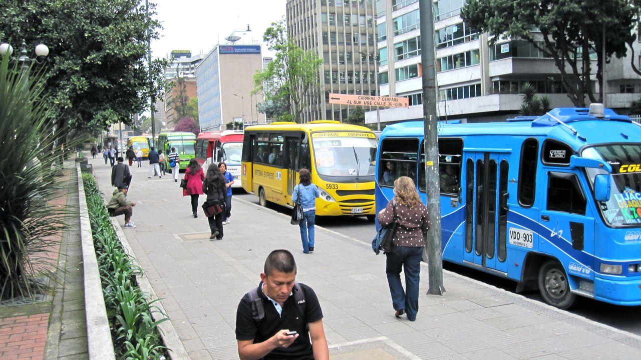Bogota Collective Public Buses