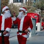 Los Angeles is offering free rides to regular commuters and Santas on Christmas Eve and New Year's Eve. Photo by Greg Thomas.