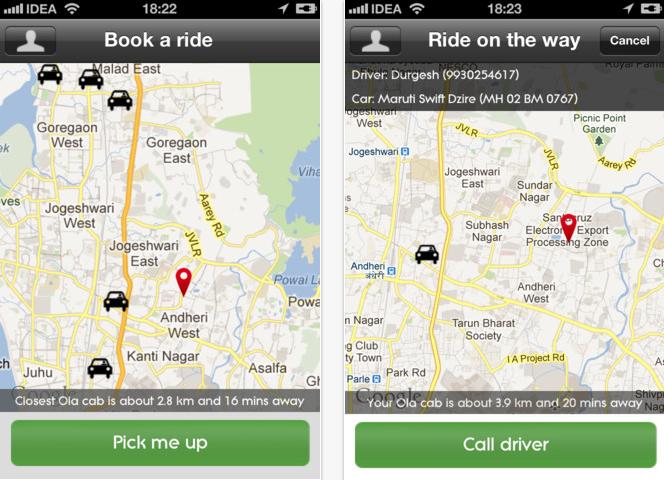 Ola! Book a Cab with a Smartphone App —TheCityFix