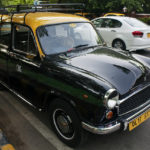 A taxicab running on compressed natural gas in New Delhi. Photo by Luke X. Martin.